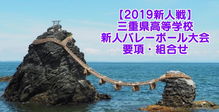 【2019新人戦】三重県高等学校新人バレーボール大会 要項・組合せ