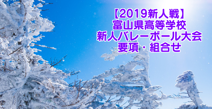 【2019新人戦】富山県高等学校新人バレーボール大会 要項・組合せ