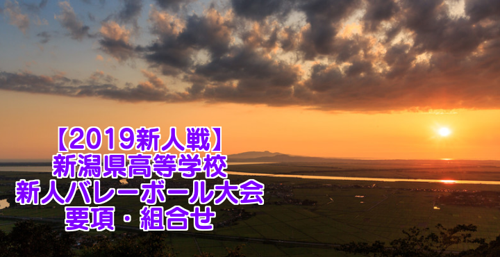 【2019新人戦】新潟県高等学校新人バレーボール大会 要項・組合せ