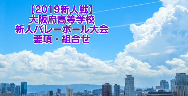 【2019新人戦】大阪府高等学校新人バレーボール大会 要項・組合せ