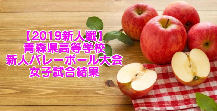 【2019新人戦】青森県高等学校新人バレーボール大会 女子試合結果