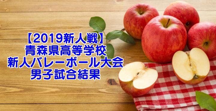【2019新人戦】青森県高等学校新人バレーボール大会 男子試合結果