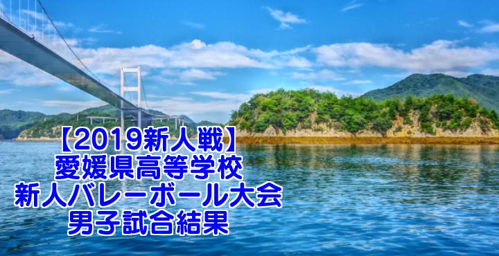 【2019新人戦】愛媛県高等学校新人バレーボール大会 男子試合結果