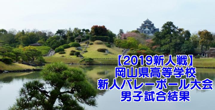 【2019新人戦】岡山県高等学校新人バレーボール大会 男子試合結果