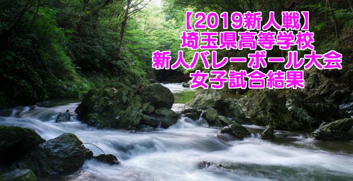 【2019新人戦】埼玉県高等学校新人バレーボール大会 女子試合結果