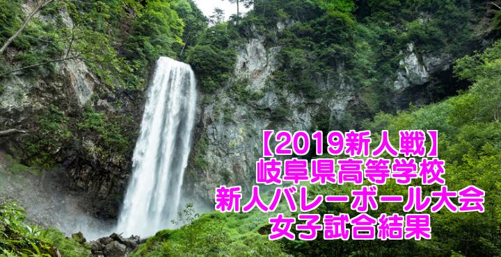 【2019新人戦】岐阜県高等学校新人バレーボール大会 女子試合結果