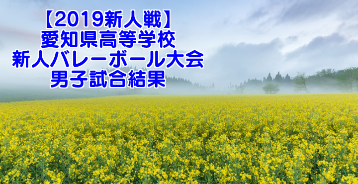 【2019新人戦】愛知県高等学校新人バレーボール大会 男子試合結果