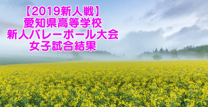 【2019新人戦】愛知県高等学校新人バレーボール大会 女子試合結果