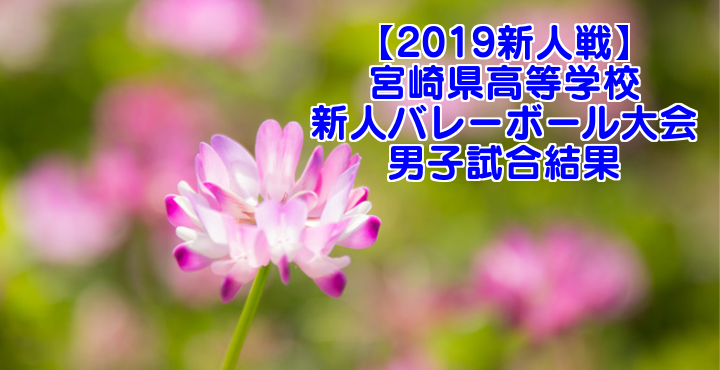 【2019新人戦】宮崎県高等学校新人バレーボール大会 男子試合結果