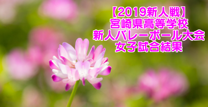【2019新人戦】宮崎県高等学校新人バレーボール大会 女子試合結果