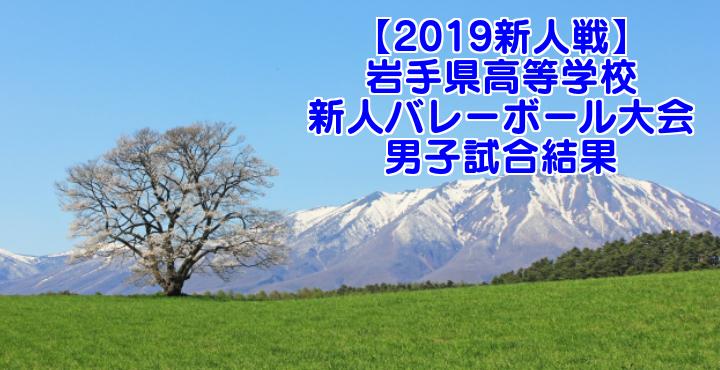 【2019新人戦】岩手県高等学校新人バレーボール大会 男子試合結果