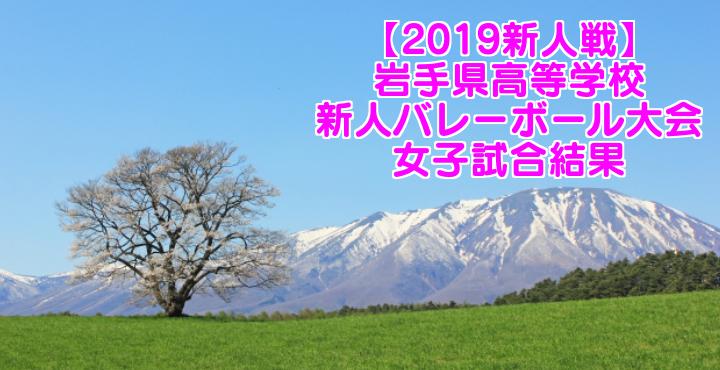 【2019新人戦】岩手県高等学校新人バレーボール大会 女子試合結果