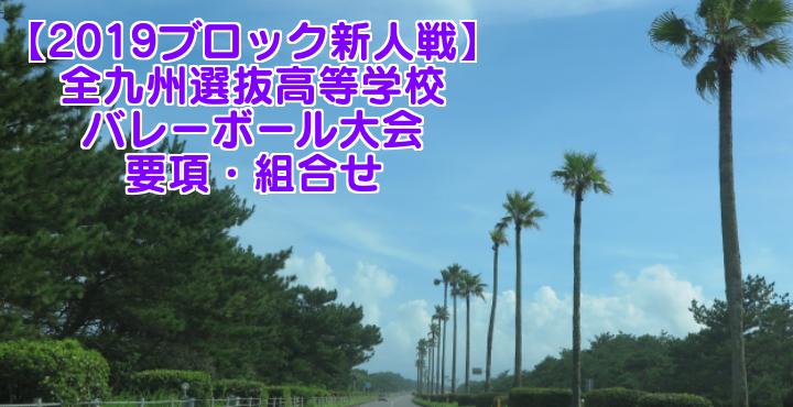 【2019ブロック新人戦】全九州選抜高等学校バレーボール大会 要項・組合せ