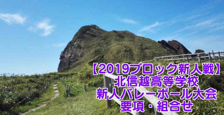 【2019ブロック新人戦】北信越高等学校新人バレーボール大会 要項・組合せ