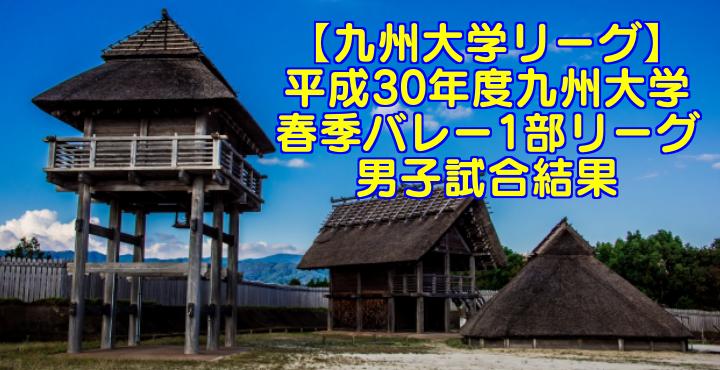 【九州大学リーグ】平成31年度九州大学春季バレー1部リーグ 男子試合結果
