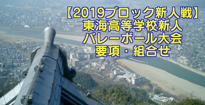 【2019ブロック新人戦】東海高等学校新人バレーボール大会 要項・組合せ