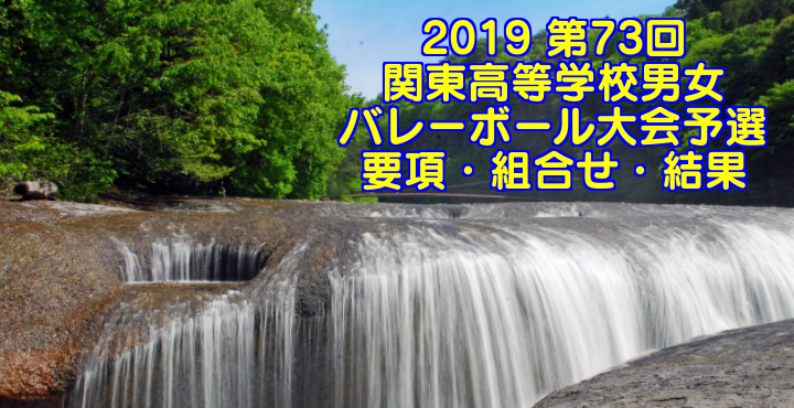 2019 第73回関東高等学校男女バレーボール大会予選 要項・組合せ・結果