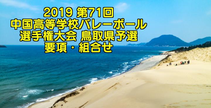2019 第71回中国高等学校バレーボール選手権大会 鳥取県予選 要項・組合せ