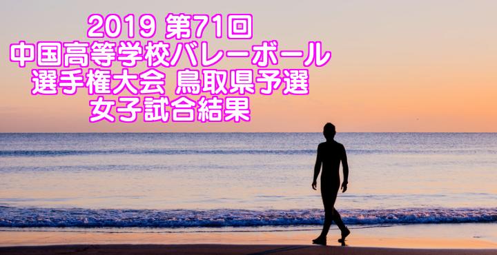 2019 第71回中国高等学校バレーボール選手権大会 鳥取県予選 女子試合結果
