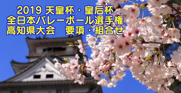 2019 天皇杯・皇后杯 全日本バレーボール選手権 高知県大会 要項・組合せ