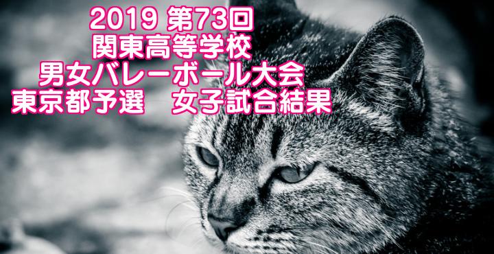 2019 第73回関東高等学校男女バレーボール大会 東京都予選 女子試合結果