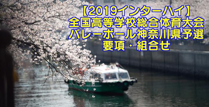 【2019インターハイ】全国高等学校総合体育大会 バレーボール神奈川県予選 要項・組合せ
