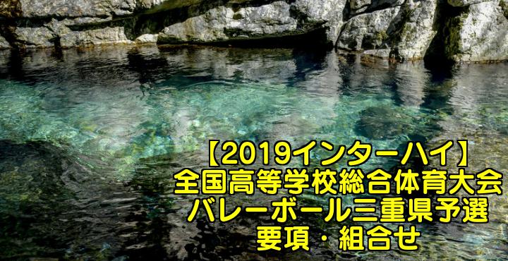 【2019インターハイ】全国高等学校総合体育大会 バレーボール三重県予選 要項・組合せ