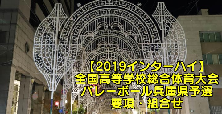 【2019インターハイ】全国高等学校総合体育大会 バレーボール兵庫県予選 要項・組合せ
