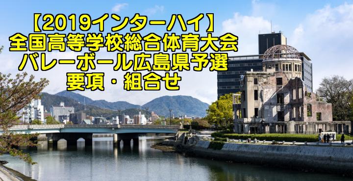 【2019インターハイ】全国高等学校総合体育大会 バレーボール広島県予選 要項・組合せ