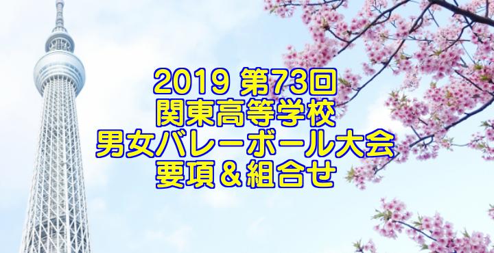 2019 第73回関東高等学校男女バレーボール大会 要項&組合せ
