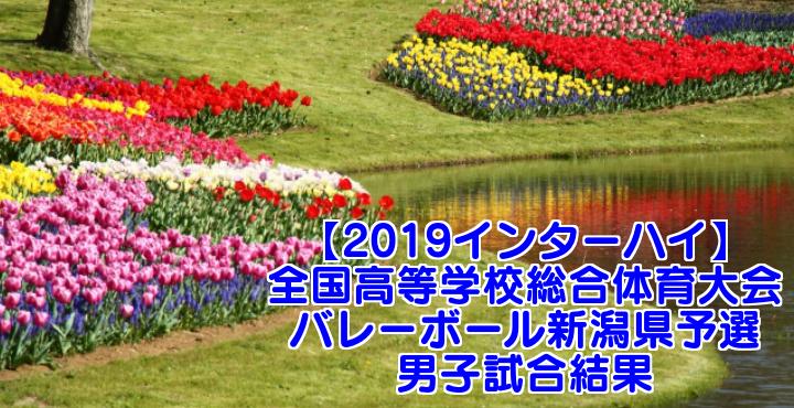 【2019インターハイ】全国高等学校総合体育大会 バレーボール新潟県予選 男子試合結果