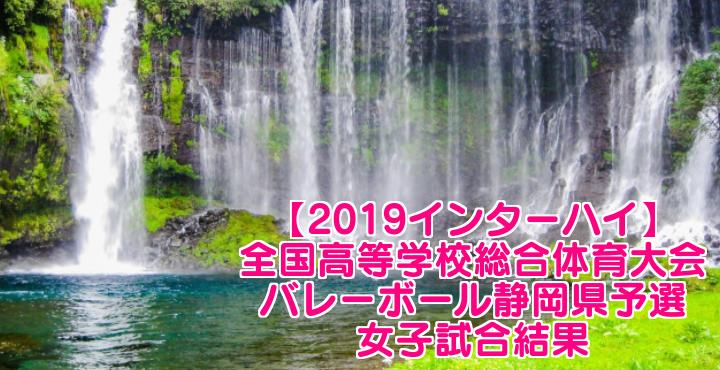 【2019インターハイ】全国高等学校総合体育大会 バレーボール静岡県予選 女子試合結果