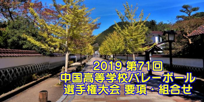 2019 第71回中国高等学校バレーボール選手権大会 要項・組合せ