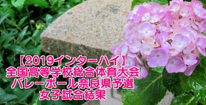【2019インターハイ】全国高等学校総合体育大会 バレーボール奈良県予選 女子試合結果