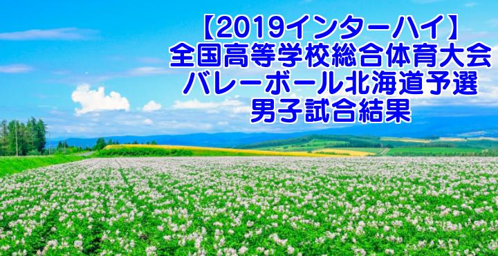 【2019インターハイ】全国高等学校総合体育大会 バレーボール北海道予選 男子試合結果
