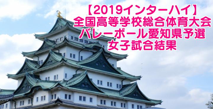 【2019インターハイ】全国高等学校総合体育大会 バレーボール愛知県予選 女子試合結果