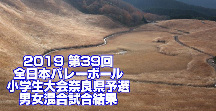 2019 第39回全日本バレーボール小学生大会奈良県予選 男女混合試合結果