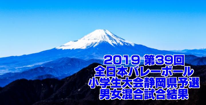 2019 第39回全日本バレーボール小学生大会静岡県予選 男女混合試合結果