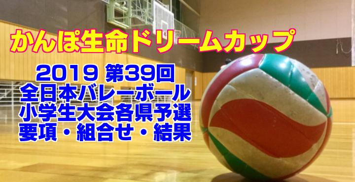 2019 第39回全日本バレーボール小学生大会各県予選 要項・組合せ・結果