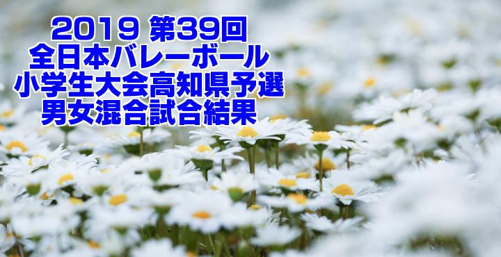 2019 第39回全日本バレーボール小学生大会高知県予選 男女混合試合結果