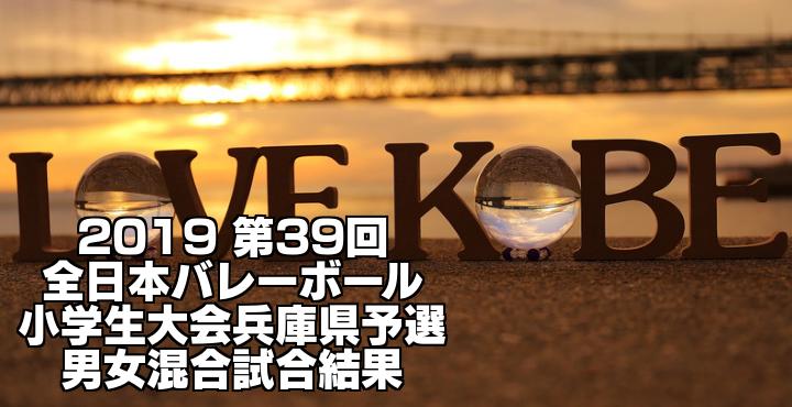 2019 第39回全日本バレーボール小学生大会兵庫県予選 男女混合試合結果