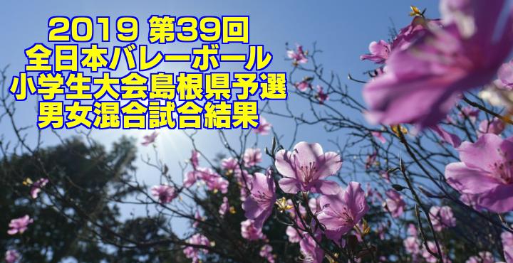 2019 第39回全日本バレーボール小学生大会島根県予選 男女混合試合結果