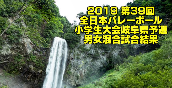 2019 第39回全日本バレーボール小学生大会岐阜県予選 男女混合試合結果