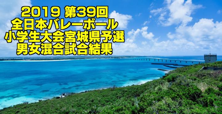 2019 第39回全日本バレーボール小学生大会宮城県予選 男女混合試合結果