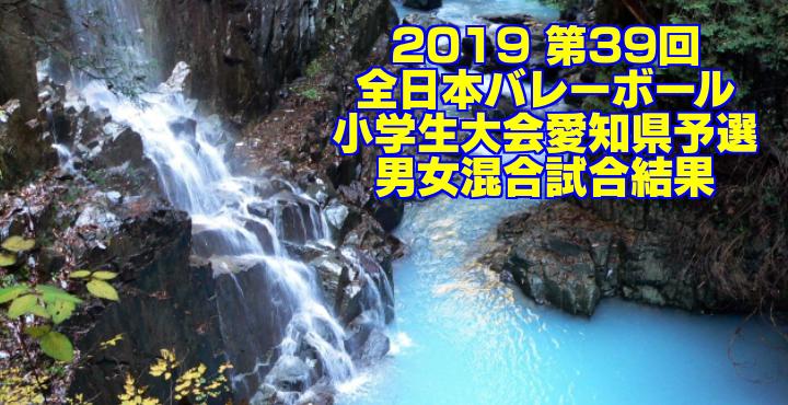 2019 第39回全日本バレーボール小学生大会愛知県予選 男女混合試合結果