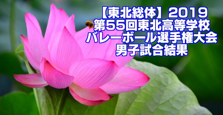 【東北総体】2019 第55回東北高等学校バレーボール選手権大会 男子試合結果
