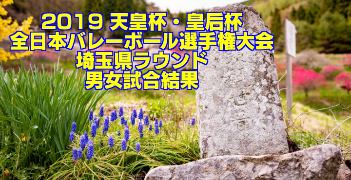 2019 天皇杯・皇后杯全日本バレーボール選手権大会 埼玉県ラウンド 男女試合結果