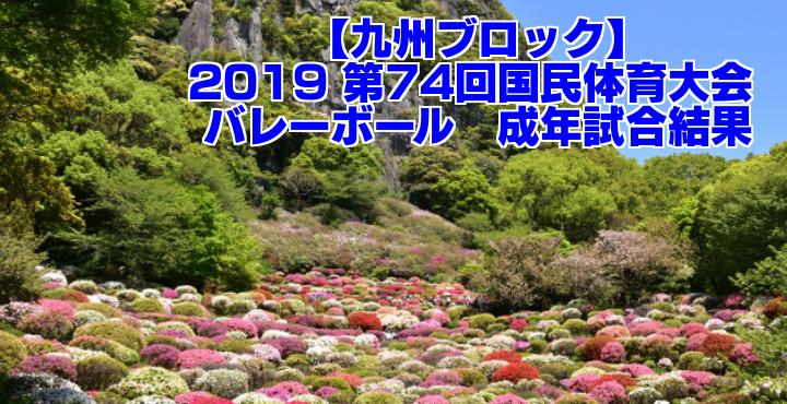 【九州ブロック】2019 第74回国民体育大会 バレーボール 成年試合結果