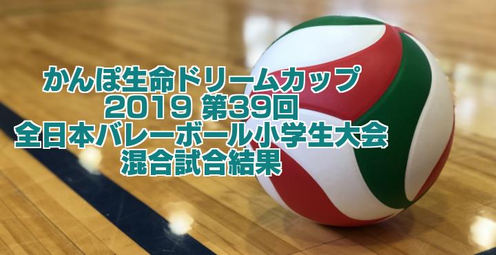 2019 第39回全日本バレーボール小学生大会 混合試合結果