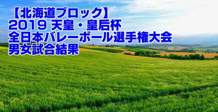 【北海道ブロック】2019 天皇・皇后杯全日本バレーボール選手権大会 男女試合結果